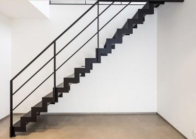 open trap 2: trap met composiet zijaanzicht