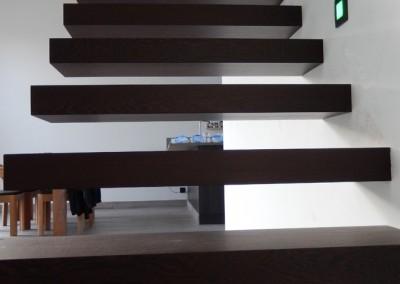 zwevende trap wengé  2